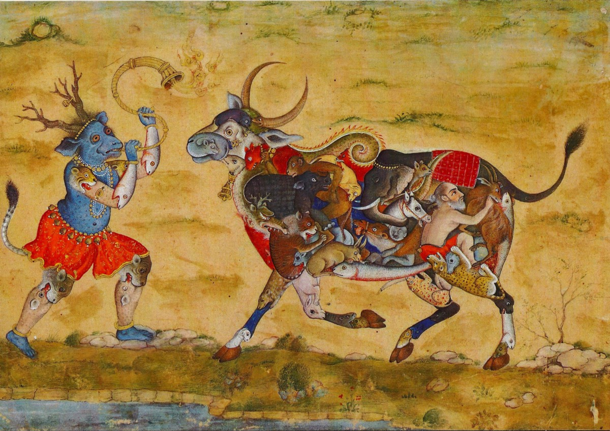 Composite Demon and Bull (detail) c 1810–20 Chester Beatty Library Dublin