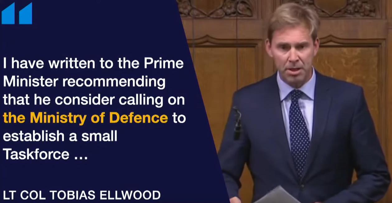 A Coup d'État by Johnny Come Lately Lt Col. Tobias Ellwood MP